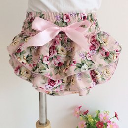 Beau Short Vintage Pas Cher-Everweekend Girls Floral Ruffles PP Pantalons Vintage Corée Western Fashion Summer Clothing Lovely Toddler Sweet Pants