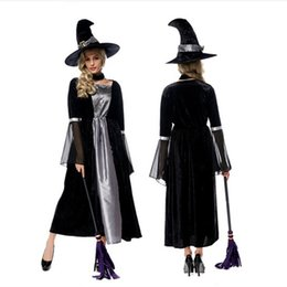 $enCountryForm.capitalKeyWord Canada - 2017 Top Grade Black Witch Long Dress Sexy Cosplay Halloween Costumes Uniform Temptation Stage Performance Clothing Hot Selling