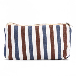 $enCountryForm.capitalKeyWord Canada - 20pcs 2017 New Cosmeitc Bag Women cotton and linen geometric pattern Make up bags Lady Candy Color Top zipper Coin Purse