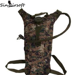 Venta al por mayor de Sinairsoft 2.5L hidratación acampar al aire libre senderismo Táctico bolso de agua bolsa mochila con vejiga ciclismo fashing bolsa al aire libre asalto mochila