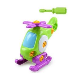 Enfants Bébé Apprentissage précoce Puzzle Jouets Éducatifs Avion Enfants Démontage Assemblage Bande Dessinée Jouet Avion