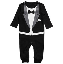 $enCountryForm.capitalKeyWord Canada - Cute Baby Suit Style Bow Tie Rompers Babies Climbing Clothes Kids Long Sleeve One Piece Clothes Toddler 0-2T