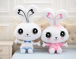 $enCountryForm.capitalKeyWord Canada - Couple tie white bunny rabbit plush toys large dolls Souvenir Valentines Day gifts to send girls free shipping