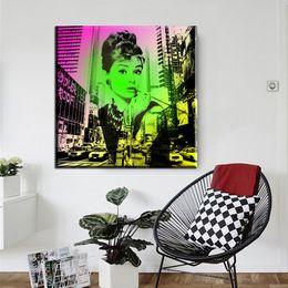 $enCountryForm.capitalKeyWord Australia - 1 Pcs Audrey Hepburn Poster Wall Art Home Decor Modern Canvas Print For Living Room Picture Painting No Frame