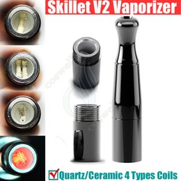 Vape pen dry herb chamber online shopping - New Skillet Vaporizer Puffco pro V II Dual Quartz Rod Ceramic chamber Donut Coils Wax Dry herb atomizers clone herbal vapor pen vape DHL