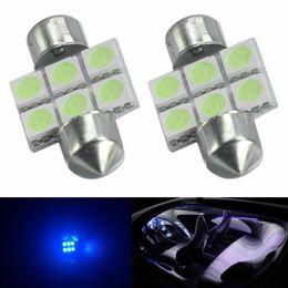 Led Light buLb square spot online shopping - 10pcs Ice Blue mm SMD Car TRACK Interior Reading Bulbs Festoon Dome Light Lamp LED