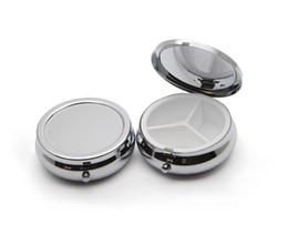 10X Hap Organizatör Kutusu Tıp DIY Gümüş Yuvarlak Metal Kutuları Hap Kutusu Cep veya Çanta için indirimde