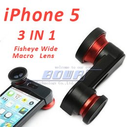 Fisheye For iphone 5s online shopping - Camera Lens for iPhone S Photo Lens Fast Charging Fisheye Wide Micro in Zoom Len Set Mount Fish Eye Lens