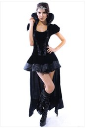Costumes En Gros Taille Reine Pas Cher-Vente en gros-LIVRAISON LIBRE Sexy Wicked Queen Party Costumes Taille M / L / XL NA8426