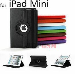 Mini Plastic Green Apples Canada - Luxury 360 Rotation PU Leather Case for iPad Mini 1 2 3 Smart Cover Flip Cases With Stand Function for iPad mini 2 3 Capa Fundas Free Ship
