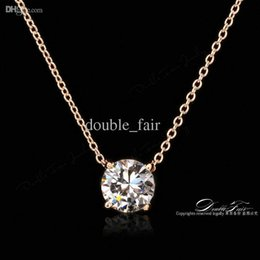 Real white gold diamond necklace australia new featured real ol style 4 claw cz diamond necklaces pendants 18k real gold plated fashion brand jewelry for women chains accessiories dfn415 mozeypictures Gallery