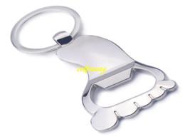 $enCountryForm.capitalKeyWord UK - 100pcs lot Fast Shipping Sole Shaped Bottle Opener Keychain shaped zinc alloy Key Ring Beer Bottle Opener Creative Gift