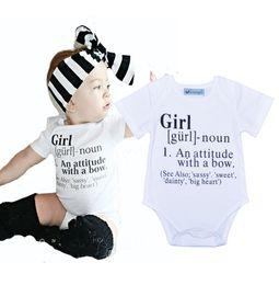 NewborN tutu size online shopping - 2016 Baby Letter Printed One Piece Romper Newborn Summer Short Sleeve Clothes Boys Girls Bodysuit Size