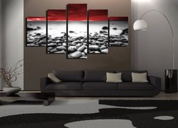 canvas prints free shipping NZ - 5 Pcs Set Framed Printed Natural wonderful sight Painting Canvas Print room decor print poster picture canvas Free shipping ny-4998