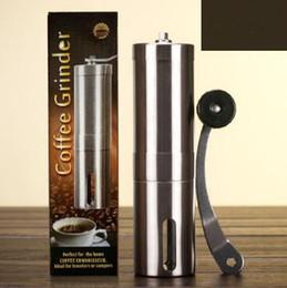 Großhandel Kreative Kaffeebohnenschleifer Edelstahl Hand Handbuch Handmade Mühle Mühle Küchenschleifwerkzeug CCA6902 25pcs
