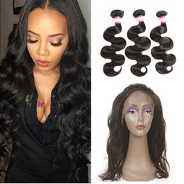 $enCountryForm.capitalKeyWord UK - 8A Virgin Filipino Hair Body Wave 3 Bundles with 360 Lace Fronal Closure with Baby Hair Prettycoco Pre Plucked Full Lace Frontal Closure