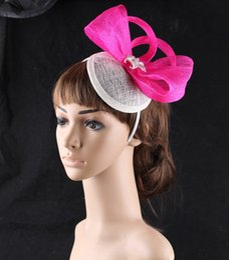 $enCountryForm.capitalKeyWord Canada - Elegant 15 colors available sinamay material fascinator hat show headpiece photographic studio headwear dance hair accessories OF1576