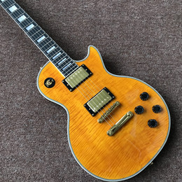 Custom Shop Maple Fingerboard Canada - new custom shop electric guitar in yellow color with eboney fingerboard , high quality hot selling Chinese guitarra