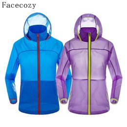 Chinese  Wholesale-Facecozy Loves Summer Outdoor Fishing Shirt Men UV Resistant Hooded Breathable Thin Camping Shirts Quick Dry Hunting Clothing manufacturers