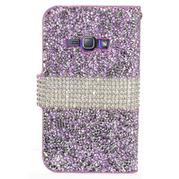 bling credit card UK - Hybrid Bling Rhinestone Diamond Leather Wallet Phone Cover Case Credit Card Slot for Samsung Galaxy J1 2016 J120 J3 2016 J320P