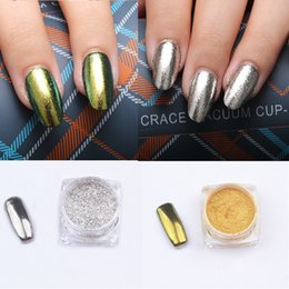 Chrome Powder Canada - Wholesale- 1PC DIY 1 3g Gold Sliver Nail Art Matte Shinning Mirror Powder Chrome Pigment Glitters Decoration Decal
