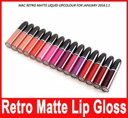 China Makeup Long lasting Waterproof Lip Gloss Retro Matte Liquid Lipcolour Lipstick 15 Colors In Stock Hot suppliers