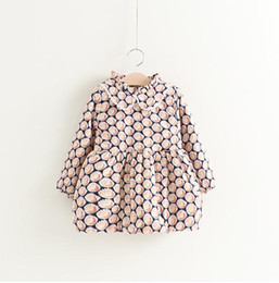 Quality Boutique Clothing NZ - Baby Peacock Girls Dresses for Winter Kids Boutique Clothing 2-7Y Little girls Long Sleeves Warm Dresses High Quality