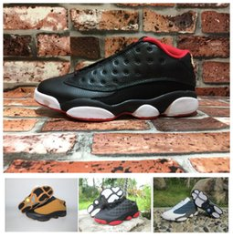 Barato Meias De Renda Baixa-(Box + meias) Air Retro 13 XIII Low Cut mulheres masculinas Sapatos de basquete Red Bred He Got Game Black Sneaker Sport Shoes