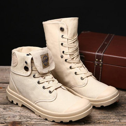 loaded shoes NZ - Autumn and winter men's Martin boots trend of loading boots British high boots male casual shoes