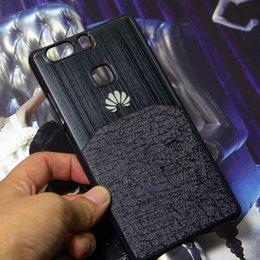 Aluminium cAse gold online shopping - for Huawei P8 Lite Case P8 cover shell P9 Lite P9 Plus Brushed aluminium Metal with Luxury Skin hybird material