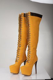 Lace Up Over Knee Boots Online | Over Knee High Boots Lace Up for Sale