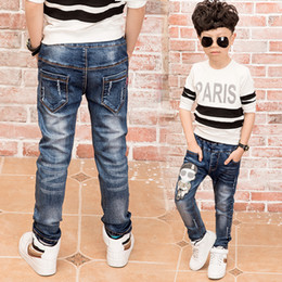 Jeans year old online shopping - New Fashion boys jeans with spring autumn Jeans boys for age years old