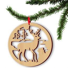 Discount decor dress - Christmas Props Ornament Christmas Tree Hanging Decor Goods Elk wood Reindeer Decorations Home Festival Holiday Party Dr