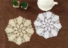 Pattern Decor Australia - Hibiscus Flower Crochet Pattern ~ Lot of 6 pcs 23CM Round wedding centerpieces, crochet wedding doilies, handmade coaster for home decor