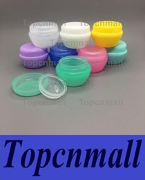 Discount personal decal - 5ML Mushroom Shape Box PP Cosmetic Empty Bottle Packing Case Candy Color Face Cream Sample Jar With Clear Liner