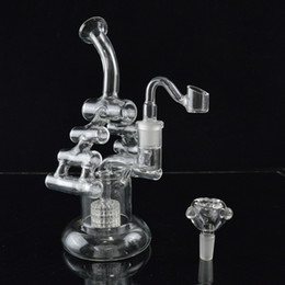"""tall glass bongs for 2019 - Matrix Perc Beaker Bong Dab Rig Newest Two Function Water Pipes Bongs 8.6"""" inches Tall Violin Recycler Oil Rigs Hoo"""