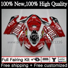 fairings ducati 1098 2021 - Body For DUCATI 848 1098 1198 07 08 09 10 11 848R 1098R 14PG11 848S S R Red black 1098S 1198S 2007 2008 2009 2010 2011 Fairing Bodywork