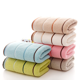 China Hot Sale 1PC 34x74cm Face Towel Plain Dyed Wholesale Retail Family Face Hair Towel 100% Cotton Hand Towels High Quality 6 Colors suppliers