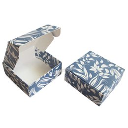 Diy Party Favors Gift Boxes Pas Cher-carton DIY Plié Favors Handmade Soap Box Craft Gift Package Party Candy Box - 120pcs bleu / lot LWB0366B Livraison gratuite en gros