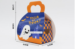 Color Cardboard online shopping - Halloween style packing bags yellow and bule color white cardboard paper for food bag factory price