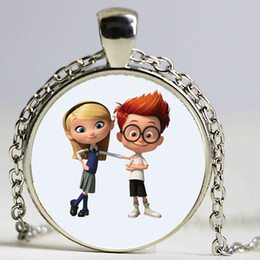 $enCountryForm.capitalKeyWord Canada - New DreamWorks Silver Mr. Peabody & Sherman Bronze Pendant Crystal Chain Necklace for Kid Dress Up Figures Action