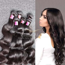 "bella hair bundles 2019 - Brazilian Hair Extensions Body Wave Virgin Human Hair Unprocessed 5pcs Bundles Double Weft 8""-30"" 9A Bella Hai"