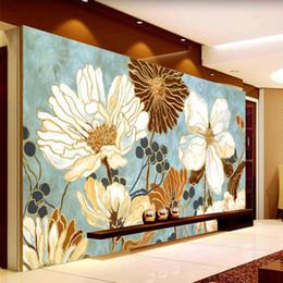 $enCountryForm.capitalKeyWord Canada - Vintage 3D Wallpaper Painting Flowers Wall Murals Custom Photo Wallpaper Kid Bedroom Kitchen Abstract Art Room decor Shop Interior design