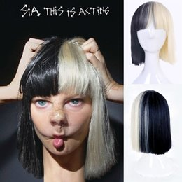halloween party online sia black blonde wig small costume cosplay wig womens wig free shipping halloween costumes blonde wig deals - Halloween Costumes With Blonde Wig