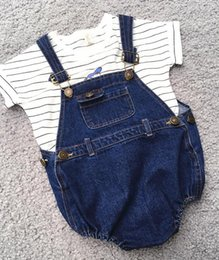 9bb4185a7c81 Baby Denim Overalls Summer Canada - New Baby Kids Denim Rompers Girls  Overalls Jeans Jumpsuits Kid