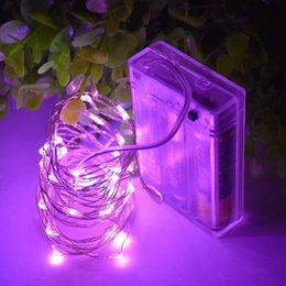 3aa batteries online shopping - 2M LEDs AA Battery String Light Sliver Copper Wires for Wedding Christmas Tree Decoration Floral Arrangements
