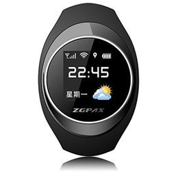 Track Kid Gps NZ - ZGPAX S888 Bluetooth Waterproof Smart watch Children Elder SOS GPS Tracking Smartwatch Anti-lost Alarm iOS Android Phone For Old Kid Gift