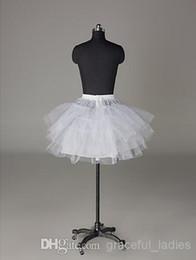 $enCountryForm.capitalKeyWord Australia - Nylon White Hooples Crinoline Petticoat A-Line Half 3 Tier Short-Length Slip Style Wedding Petticoats Underskirt For Wedding