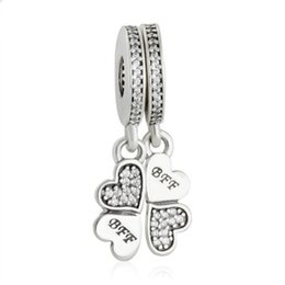 Bling Stars BFF Best Friends Forever Puzzle Dangle Charm Bead fits Pandora Bracelets flU5p