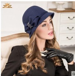 $enCountryForm.capitalKeyWord Australia - England Ladies Party Evening Special Occasion Hats Navy Blue High Quality Fall Winter Wool Hat Dark